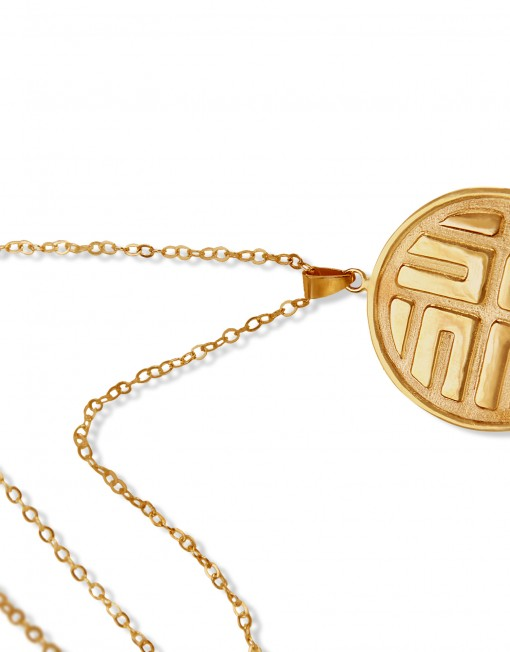 the-mirror-sun-necklace-gold