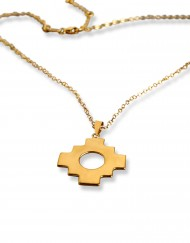 chakana-single-necklace-gold-plated