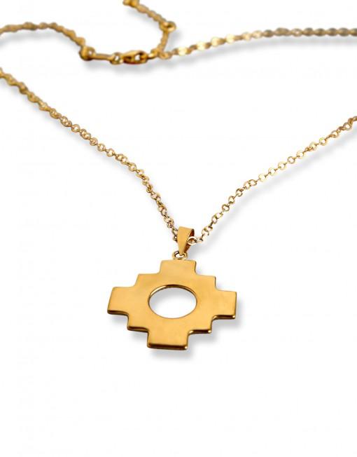 chakana-single-necklace-gold-plated